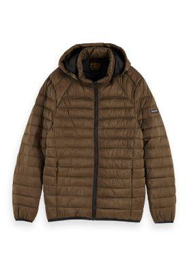 Scotch & Soda Jacket Men CLASSIC HOODED LIGHT WEIHT PADDED JACKET 152011 Khaki Military 0360 – Bild 0