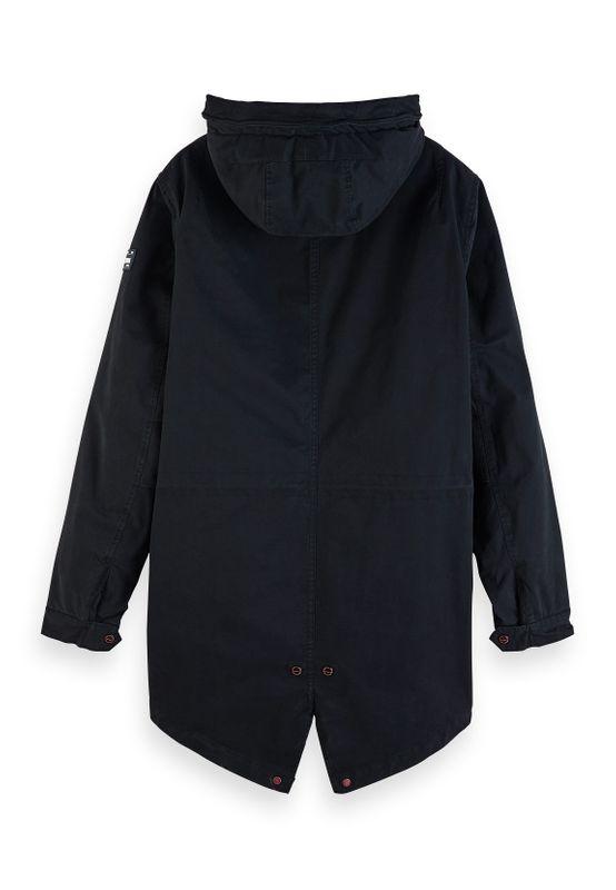 Scotch & Soda Jacket Men CLASSIC HOODED PRIMA PARKA 151999 Schwarz Black 0008 – Bild 1