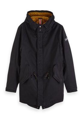 Scotch & Soda Jacket Men CLASSIC HOODED PRIMA PARKA 151999 Schwarz Black 0008 – Bild 0