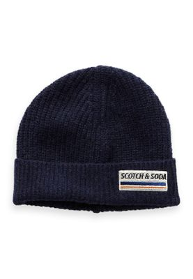 Scotch & Soda Mütze Men Beanie 152879 Dunkelblau Night 0002