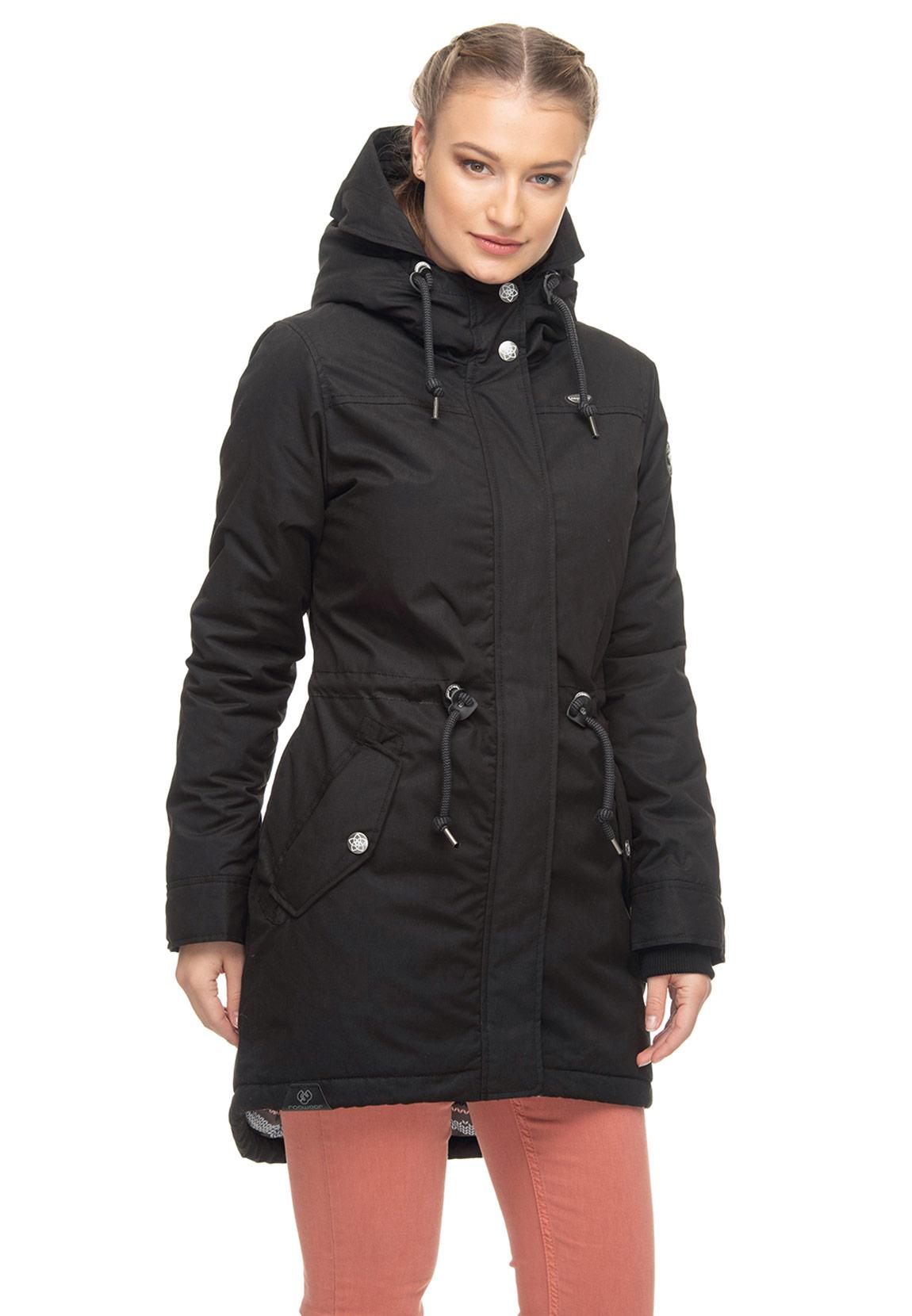 Details zu Ragwear Jacke Damen ELBA COAT B 1921 60031 Schwarz Black 1010