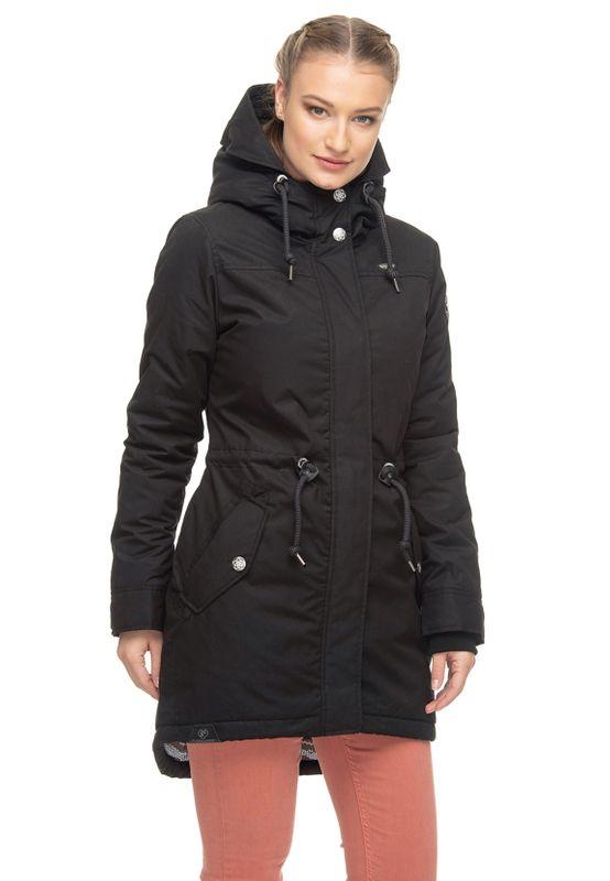 Ragwear Jacke Damen ELBA COAT B 1921-60031 Schwarz Black 1010