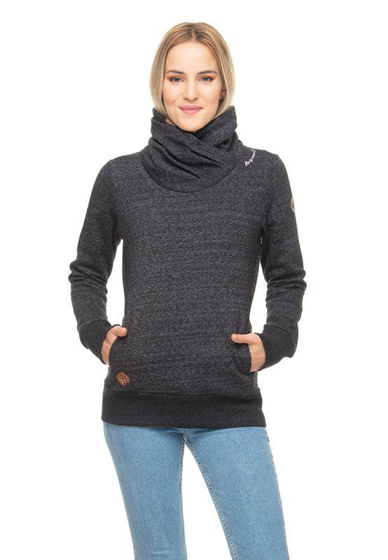 Ragwear Sweater Damen ANABELKA 1921-30006 Schwarz Black 1010