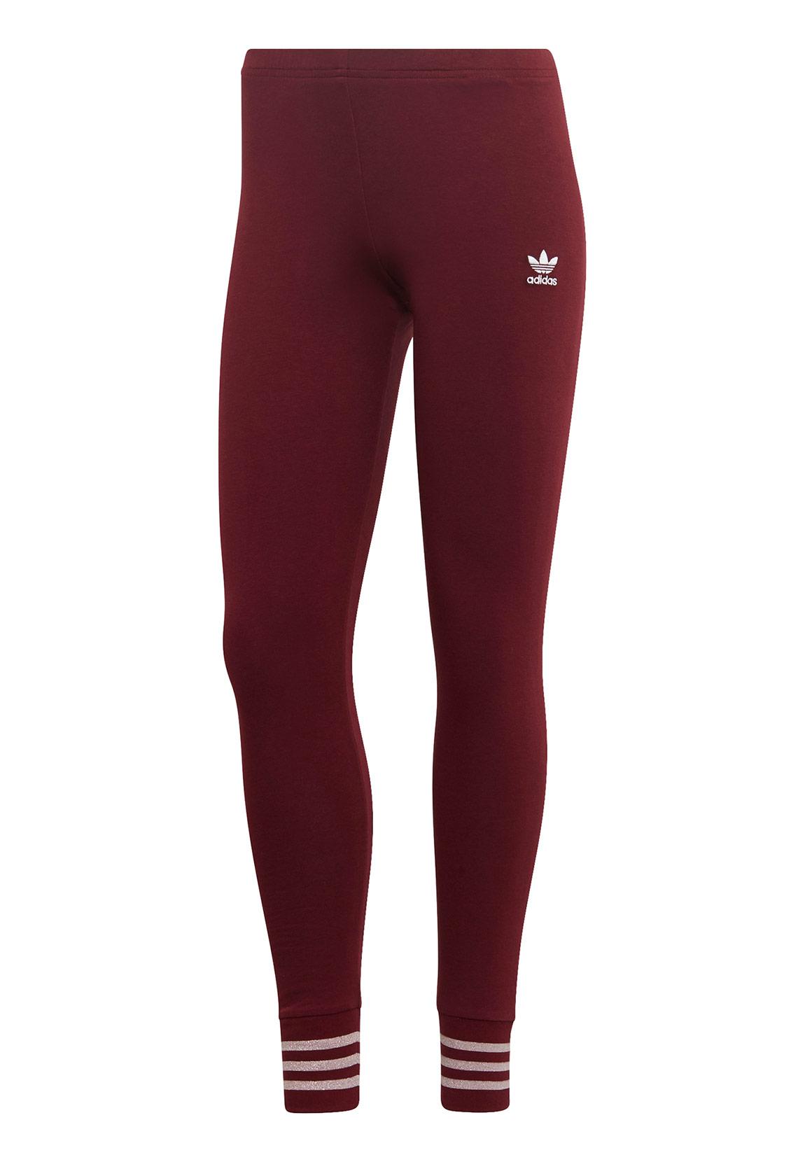 Adidas Originals Leggings Damen TIGHTS ED4788 Dunkelrot