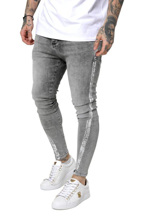 SikSilk Herren Jeans PAINT STRIPE TWISTED HEM SS-15292 Snow Wash Ansicht