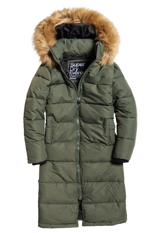 Superdry Jacke Damen LONGLINE QUILTED EVEREST JACKET Thyme Ansicht