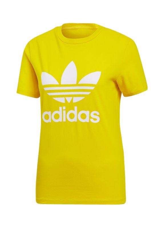 Adidas Originals T-Shirt Damen TREFOIL TEE ED7495 Gelb Ansicht