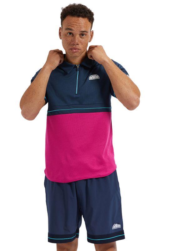 Ellesse Polo Herren WESLEY POLO Dunkelblau Pink Navy Pink Ansicht