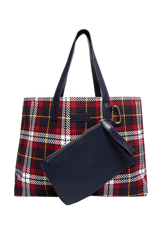 Superdry Tasche ADEENA CANVAS TOTE Red Check Ansicht