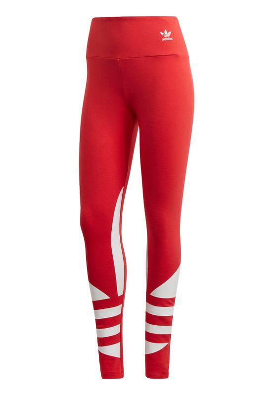Adidas Originals Leggings Damen LRG LOGO TIGHT FQ6821 Rot Ansicht