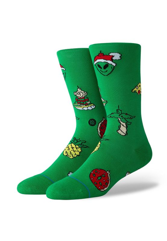 Stance Herrensocken EVERYDAY XMAS ORNAMENTS Green Ansicht