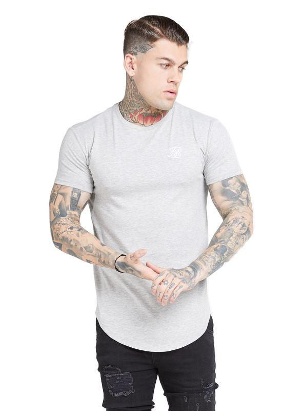 SikSilk T-Shirt Herren CORE GYM TEE SS-15815 Grey Marl  Ansicht