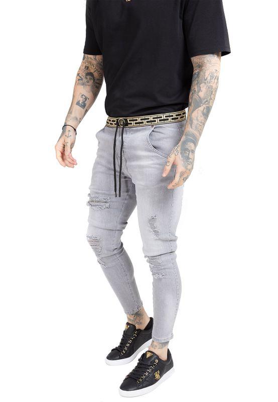 SikSilk Jeans Herren SKINNY DISTRESSED SS-15903 Grey Ansicht
