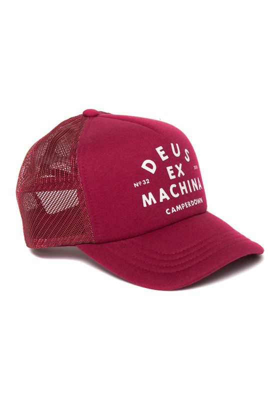 Deus Trucker Cap AUSTIN CAMPERDOWN TRUCKER DMW97106A-RED Rot  Ansicht