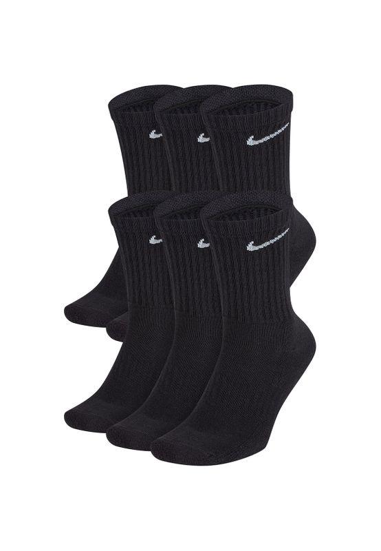 Nike Socken Schwarz 6er Pack NIKE CUSHIONED CREW SX7666-010 Black Ansicht