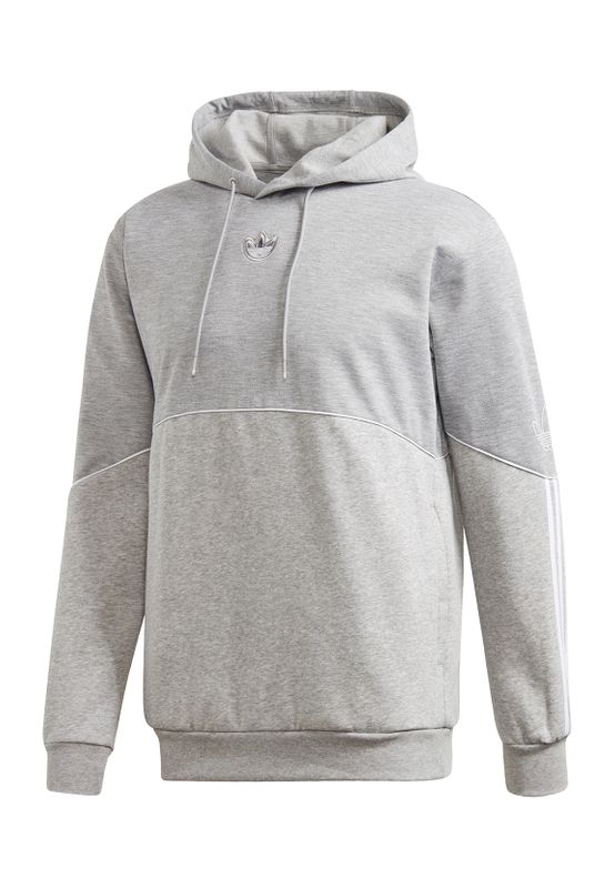 Adidas Originals Sweater OUTLINE HDY FLC FM3914 Grau meliert Ansicht