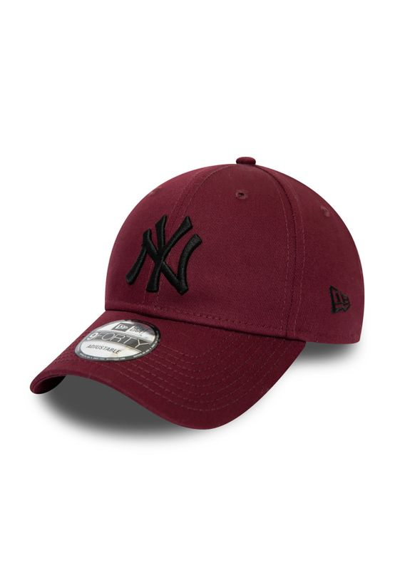 New Era Essential 9Forty Adjustable Cap NY YANKEES Dunkelrot Ansicht