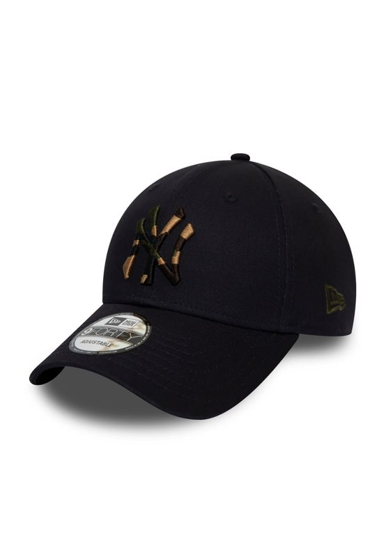 New Era Camo Infill 9Forty Adjustable Cap NY YANKEES Schwarz Ansicht