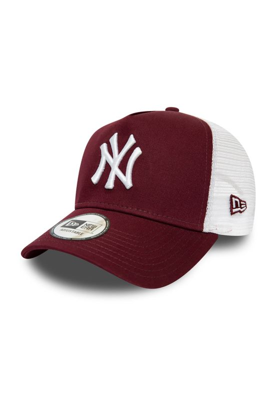 New Era Kinder Essential KTD 9Forty Trucker Cap NY YANKEES Bordeaux Weiß Ansicht