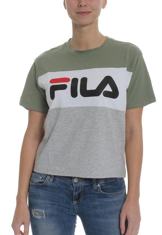 Fila T-Shirt Damen ALLISON TEE 682125 Mehrfarbig A477 Sea Spray-Light Grey Melange Bros-Bright White Ansicht