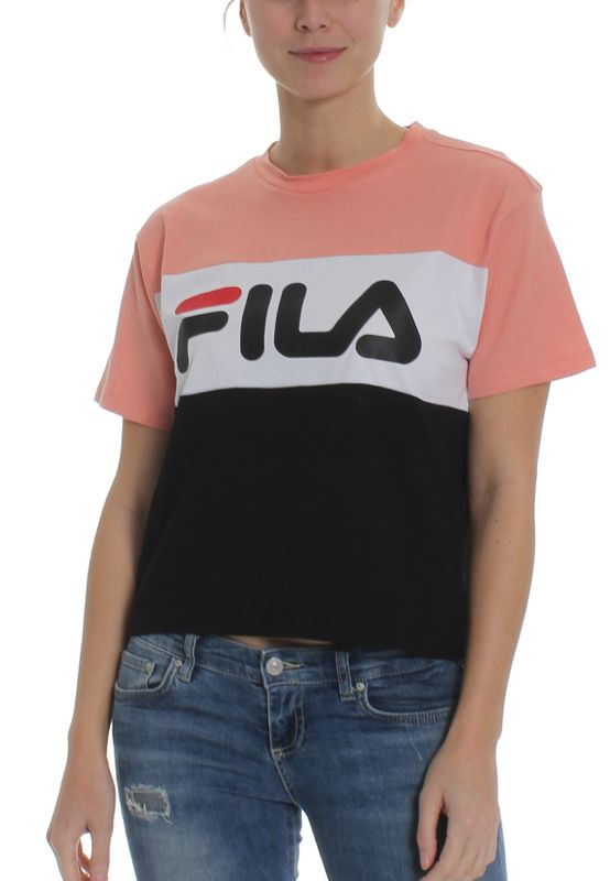 Fila T-Shirt Damen ALLISON TEE 682125 Mehrfarbig A887 Lobster Bisque-Black-Bright White Ansicht