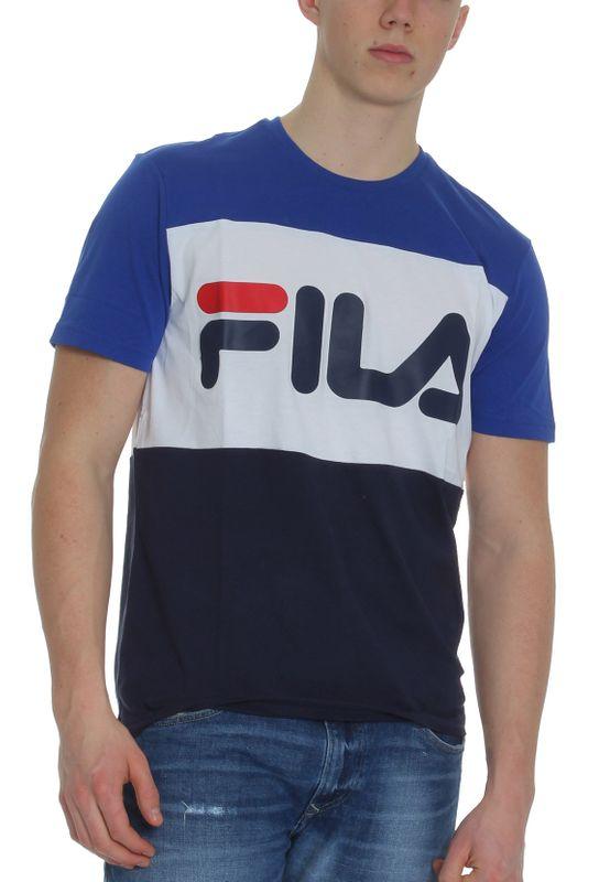 Fila T-Shirt Herren DAY TEE 681244 Mehrfarbig A436 Surf The Web-Black Iris-Bright White Ansicht