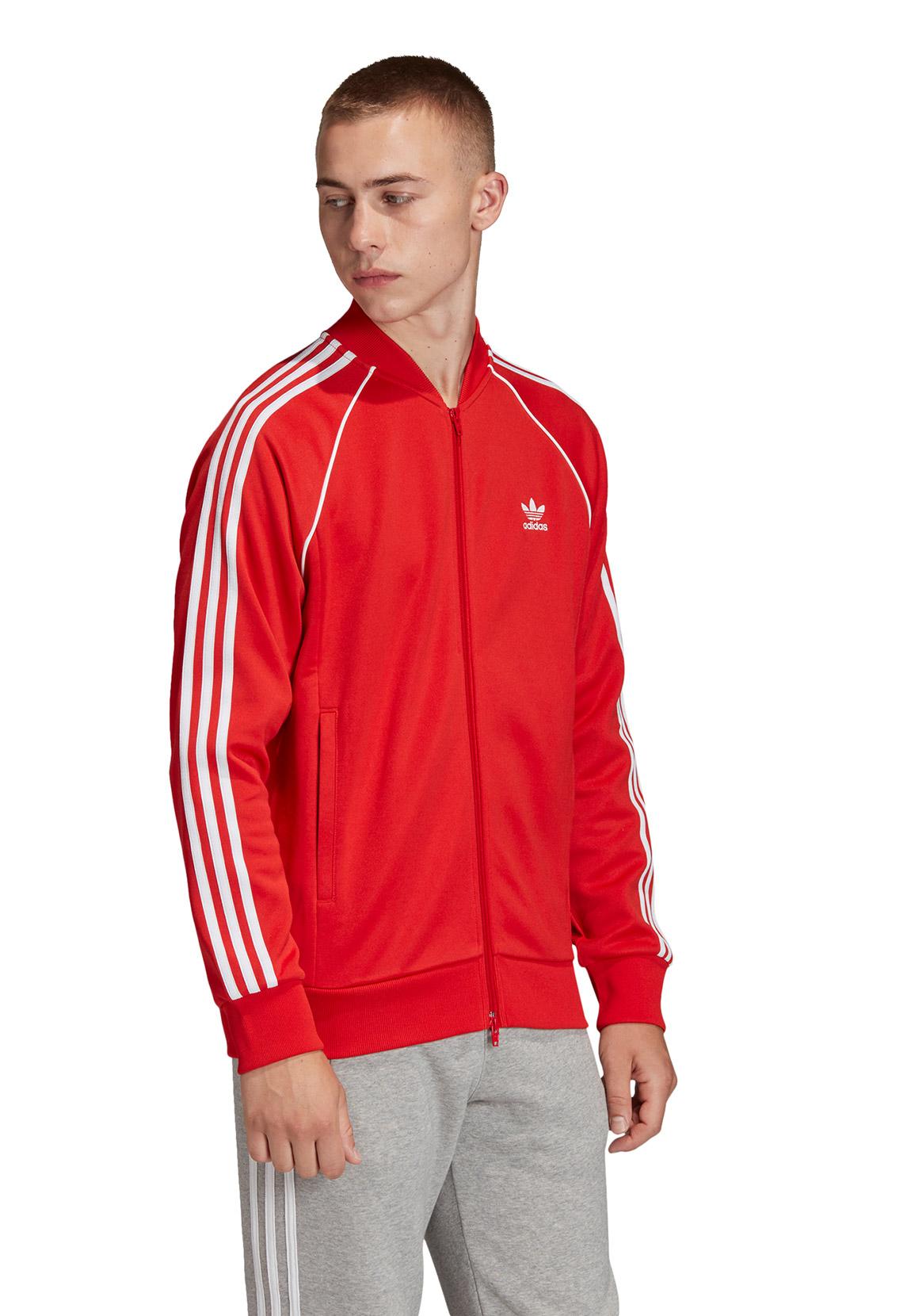 Adidas Sweatjacke Herren SST TT JACKE FM3809 Rot