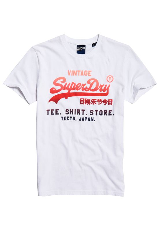 Superdry T-Shirt Herren VL FADE T-SHIRT STORE TEE  Optic Ansicht