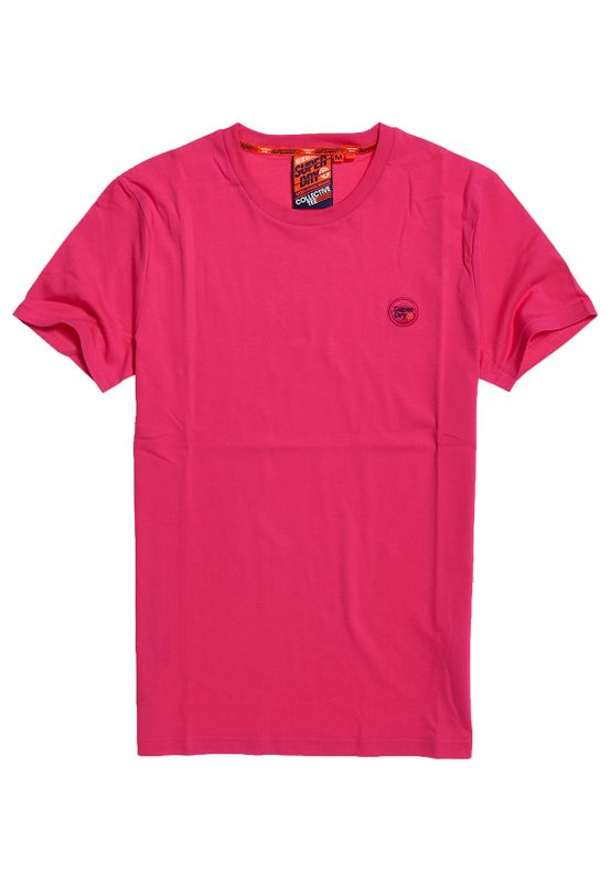 Superdry T-Shirt Herren COLLECTIVE TEE Shocking Pink Ansicht