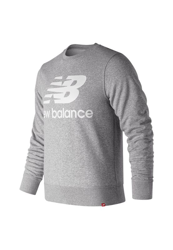 New Balance Herren Crewneck ESSENIALS STACKED SWEAT MT91548 Grau Ansicht