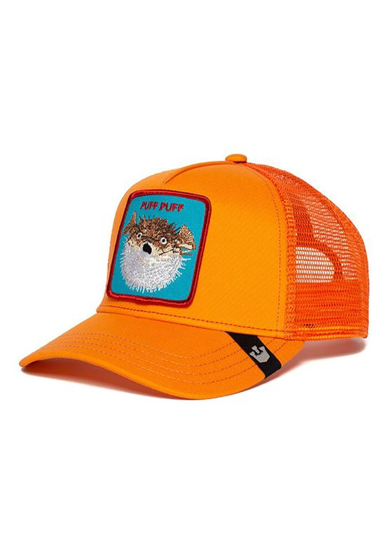 Goorin Bros. Trucker Cap PUFF Neon Orange Ansicht
