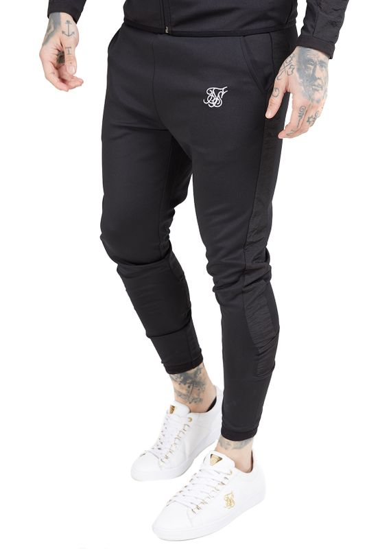 SikSilk Jogginghose Herren CREASED NYLON PANTS SS-15397 Black Ansicht