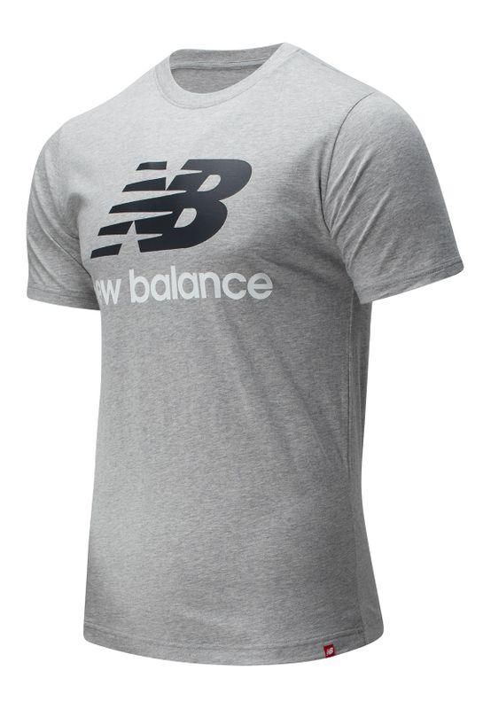 New Balance T-Shirt Herren ESSENTIALS STACKED SPORTSWEAR TEE SHIRT MT01575 AG Grau Ansicht