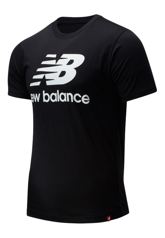 New Balance T-Shirt Herren ESSENTIALS STACKED SPORTSWEAR TEE SHIRT MT01575 BK Schwarz Ansicht