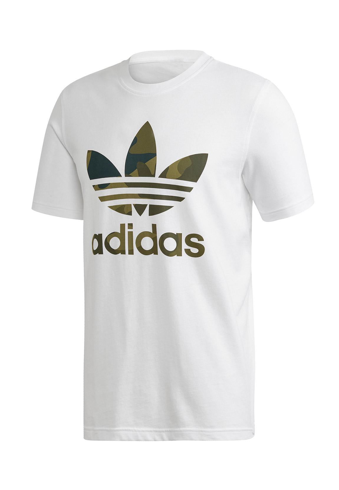 Adidas Originals T Shirt Herren CAMO INFILL TEE FM3337 Weiß