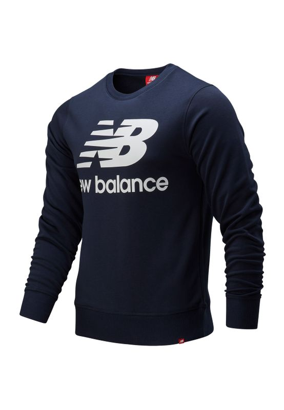 New Balance Herren Crewneck ESSENIALS STACKED SWEAT MT91548 Eclipse Navy Ansicht