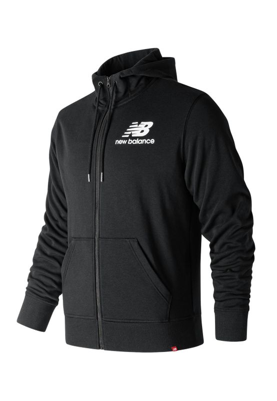 New Balance Herren Sweatjacke ESSENTIALS STACKED JACKET MTJ91549 Black Ansicht