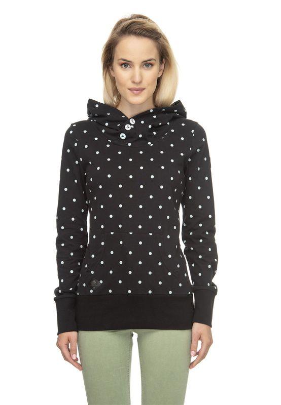 Ragwear Sweater Damen CHEALSEA DOTS 2011-30020 Schwarz Black 1010 Ansicht