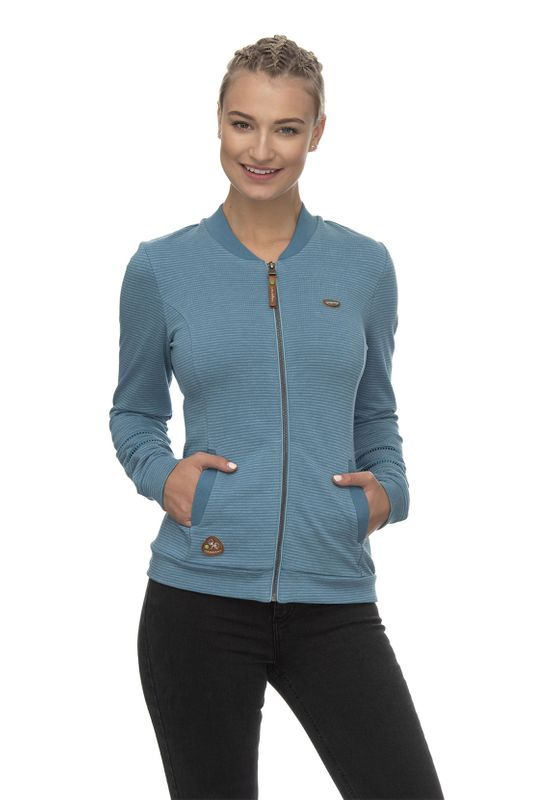Ragwear Zipper Damen CARLIE ORGANIC 2011-30069 Blau Baltic 5033 Ansicht