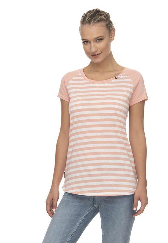 Ragwear T-Shirt Damen T-Shirt MAZIK ORGANIC 2011-10057 Mehrfarbig Peach 4049 Ansicht