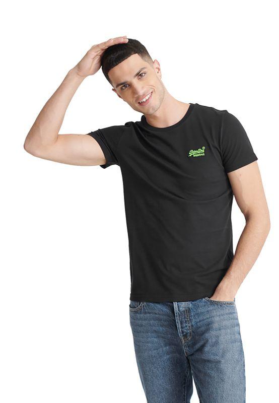 Superdry T-Shirt Herren OL NEON LITE TEE Black Ansicht