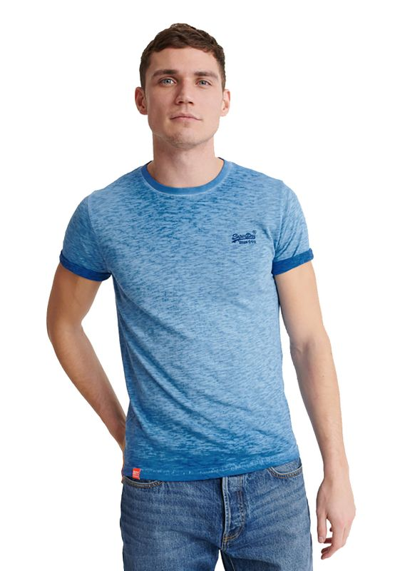 Superdry T-Shirt Herren OL LOWER ROLLER TEE True Blue Ansicht