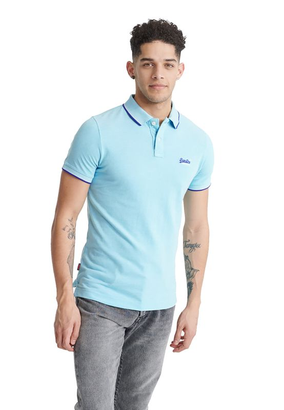 Superdry Polo Herren POOLSIDE PIQUE S/S POLO Spearmint Grit Ansicht