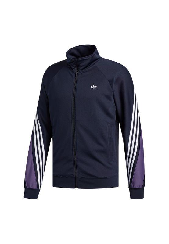 Adidas Originals Sweatjacke Herren 3 STRIPE WRAP TT FM1524 Dunkelblau Ansicht