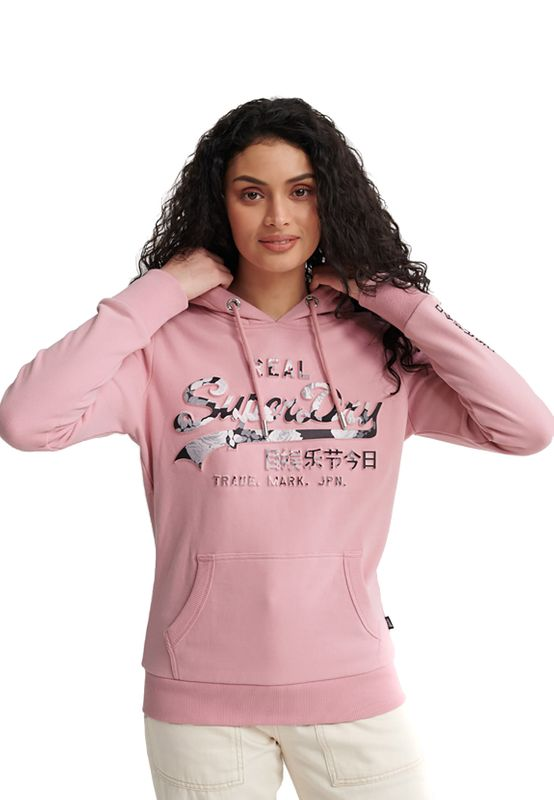 Superdry Hoody Damen VL PHOTO ROSE ENTRY HOOD UB Soft Pink Ansicht