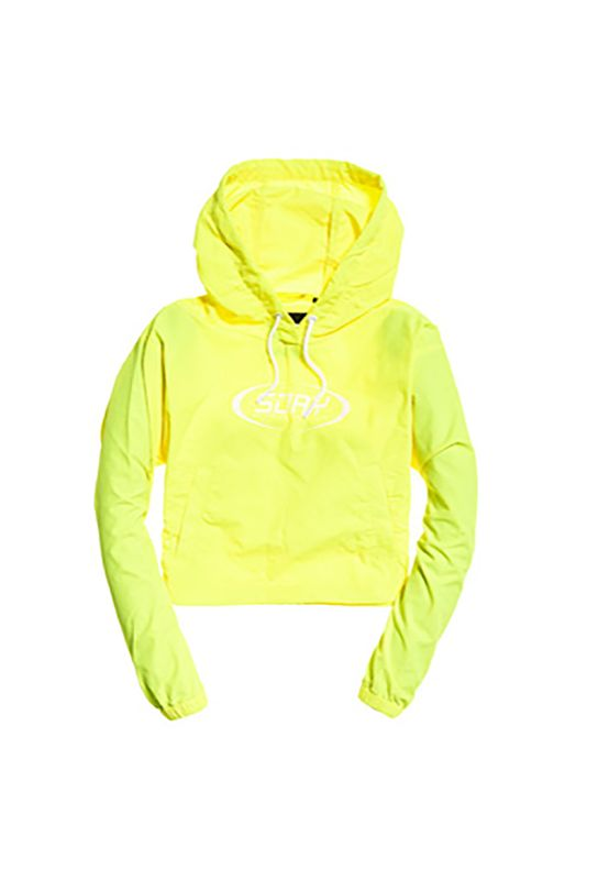 Superdry Jacke Damen NEO CROPPED OVERHEAD JACKET Neon Yellow Ansicht