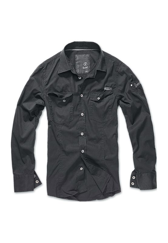 Brandit Hemd SLIM WORKER SHIRT BD4005 Black Ansicht