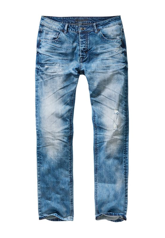Brandit Jeans WILL WASHED DENIM BD1015 Blue Washed Ansicht