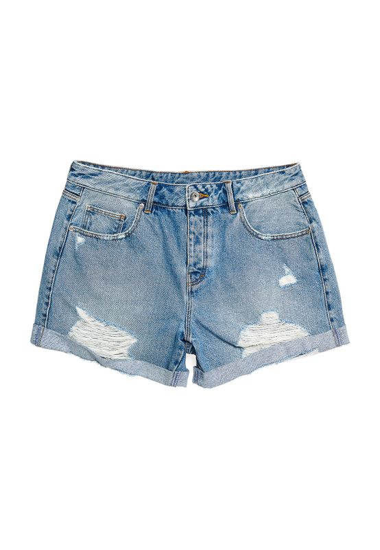 Superdry Shorts Damen STEPH BOYFRIEND SHORT Light Indigo Vintage Ansicht
