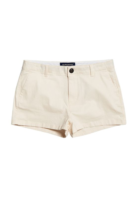 Superdry Shorts Damen CHINO HOT SHORT Oyster Ansicht